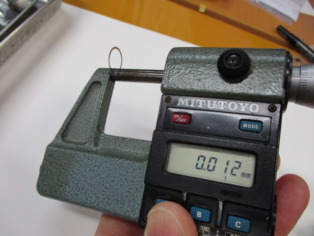 シム 10.8-12.8-0.01 ステン6枚 ドラグ ドライブシャフト シマノ ダイワ 向け