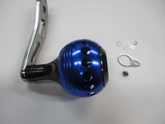 1穴 青エルゴ(1列穴) アブ/ダイワ/シマノ M7の場合:アダプタ必要向け パワーハンドル ナット別売