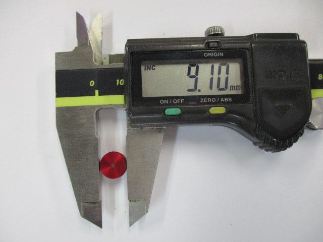 AMO製 汎用ノブキャップ9.1mm 赤1個 シマノ アブ 雷魚 カゴ ジギング リール