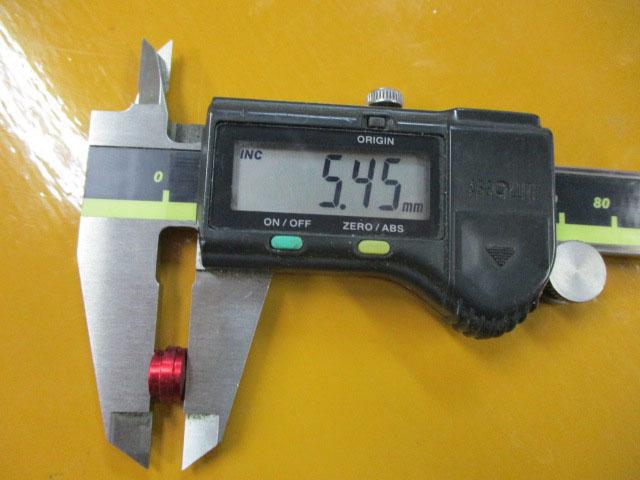 AMO製 汎用ノブキャップ9.1mm 赤2個 シマノ アブ 雷魚 カゴ ジギング リール