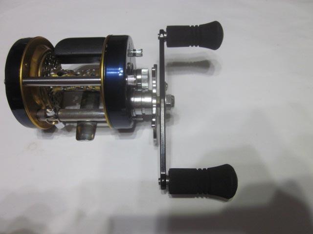 ストレート筒エバ アブ ダイワ シマノ M7の場合:アダプタ必要 ハンドル ナット別売 雷魚 カゴ