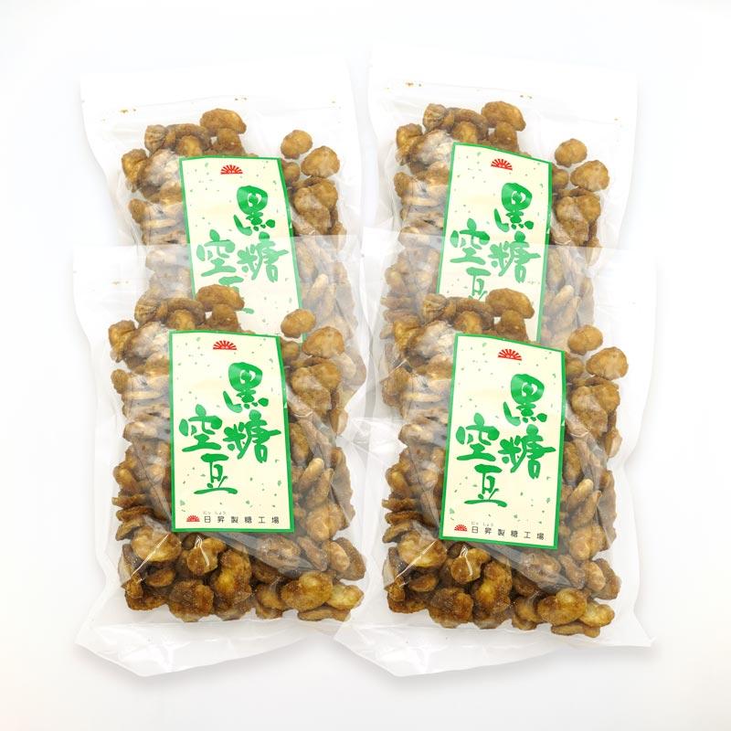 種子島 日昇製糖工場 黒糖空豆 150グラム×4点セット/送料込み/レターパックプラス便