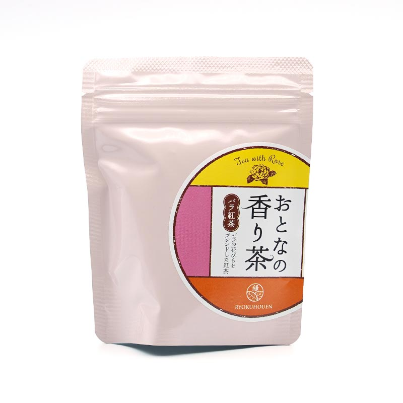 お茶の緑峰園 大人の香り茶 バラ紅茶 6グラム