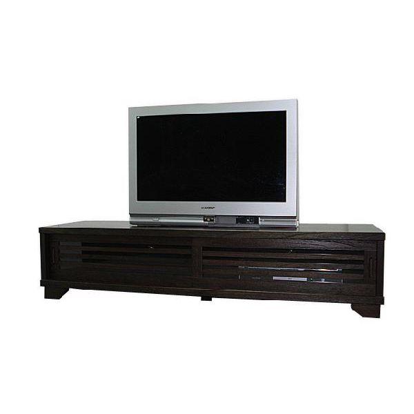 ローボード テレビ台 テレビボード ロータイプ TVボード 和風 和室 幅150cm ブラウン 送料無料
