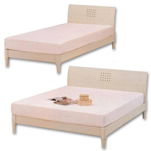 ダブルベッド すのこベッド ベッドフレーム ホワイト/フレーム ダブル シンプルデザイン
