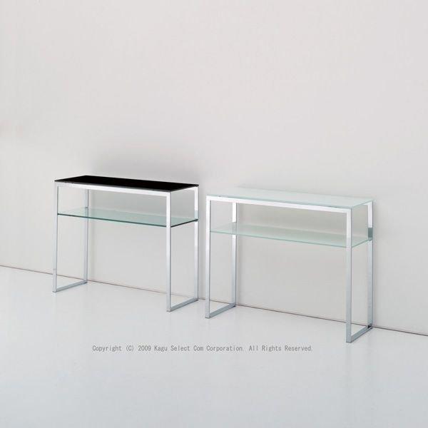 コンソールテーブルガラステーブル モダン デザイナーズ 飾り棚ディスプレイイタリア製 mbt0037bl