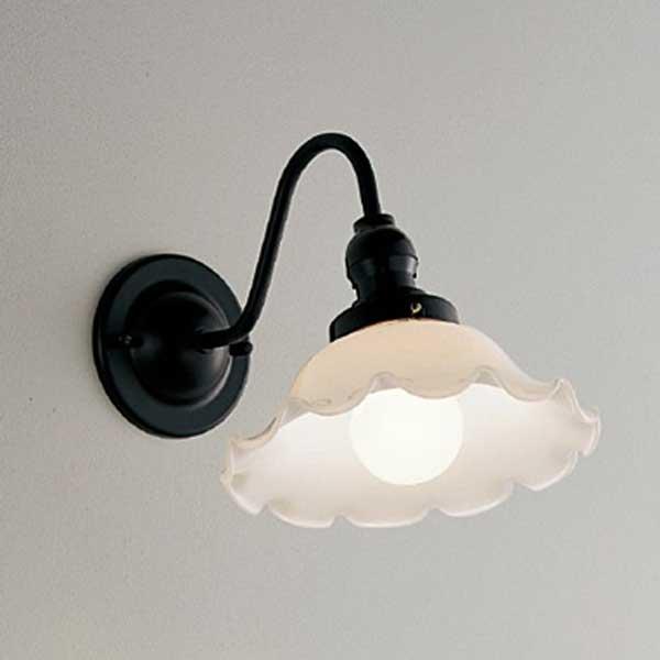 昭和レトロ照明 乳白ひだガラス  ブラケットライト壁面照明 ランプ別 ERB6317MB