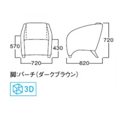 ロビーチェアーパーソナルチェアブラック合皮完成品 ホテル家具myc0243blb