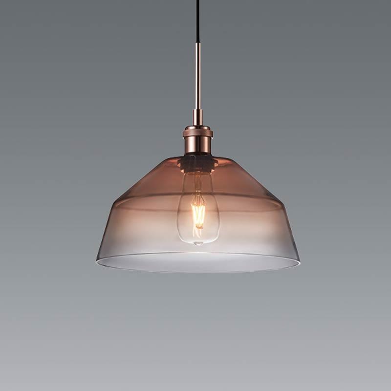 おしゃれ レトロ ガラス ペンダントライト照明北欧風店舗天井照明 クリアアンバー erp7418u