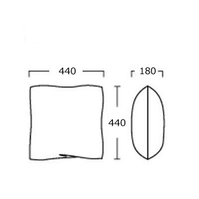 正方形 シルバー系テキスタイルクッション おしゃれソファクッション   モダン  44×44cm myk0621