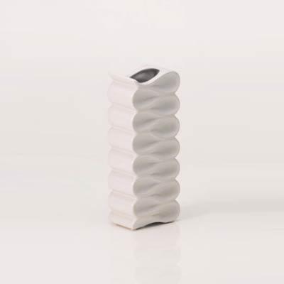 花瓶シンプルモダンインテリア雑貨ホワイトオブジェ縦長 幅12高さ30cm myk0338