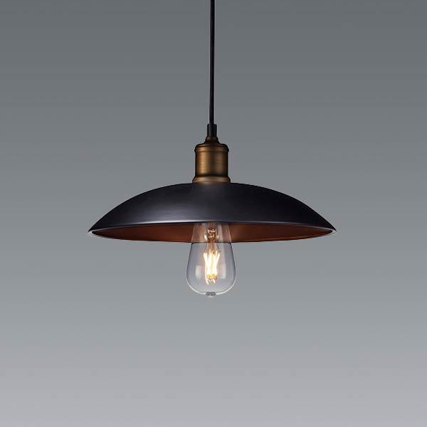 おしゃれ ペンダントライト 北欧 インダストリアル 照明 カフェ モダン 天井照明直径32cmブラック ERP7441BA
