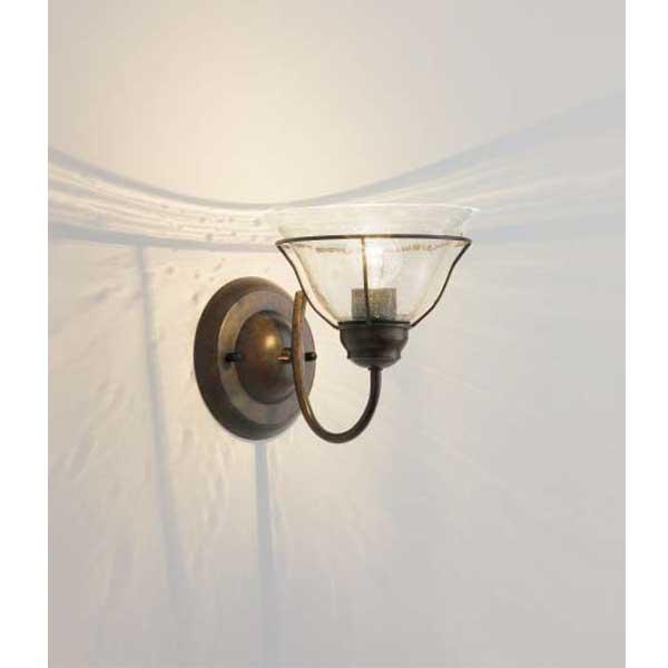 アンティーク調ブラケットライトスペイン製泡入りガラスセードの1灯 LEDランプ照明 XRB1051UB