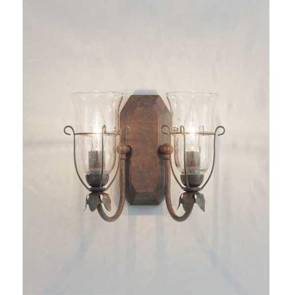 スペイン製泡入りガラスセードのアンティーク調ブラケットライト2灯 ランプ別 XRB1052UB