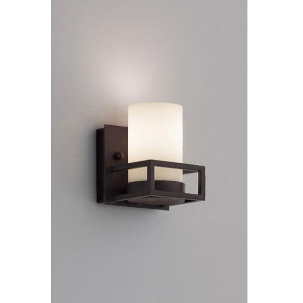 アンティーク風ブラケット照明壁面(黒)+乳泊ガラス間接照明 ランプ別 ERB6370XB