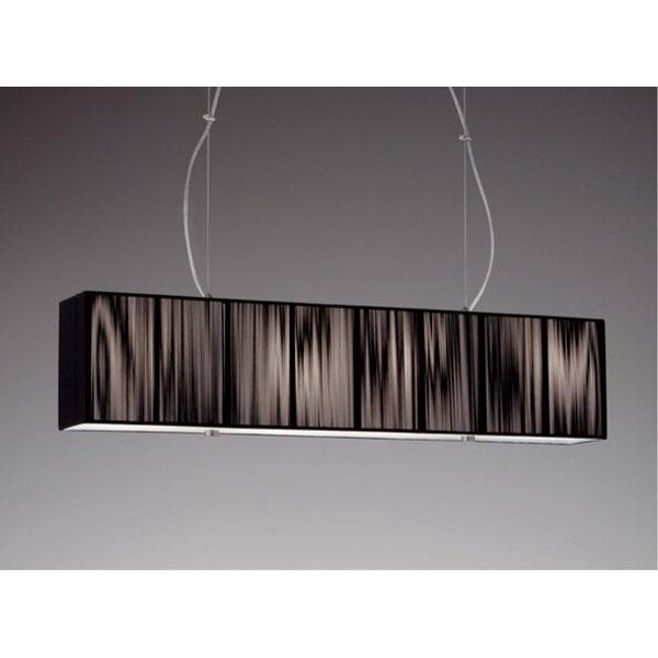 ブラック布セード長長方形ペンダントライト 照明 天井照明 ERP7158BB