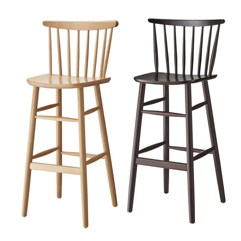 カウンターチェアー木製椅子曲木椅子板座 業務用店舗用カラー2色 nina-1h