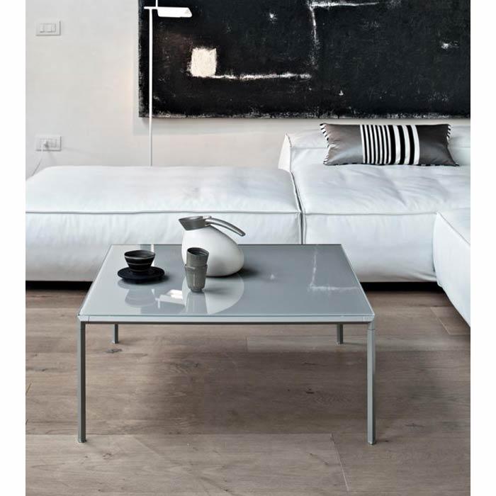 センターテーブル ガラステーブルローテーブル正方形クールモダンイタリアDIAGONAL mbt0109sb