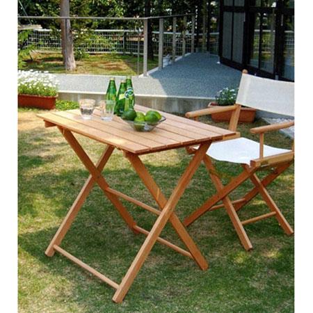 ガーデンテーブル 折り畳みテーブルイタリアオープンカフェ 木製テーブルtaboro-px