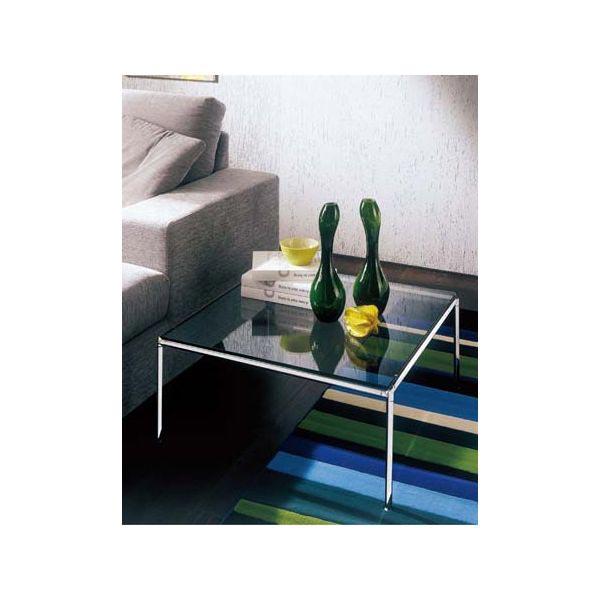 センターテーブル ガラステーブルローテーブル正方形クールモダンイタリアDIAGONAL