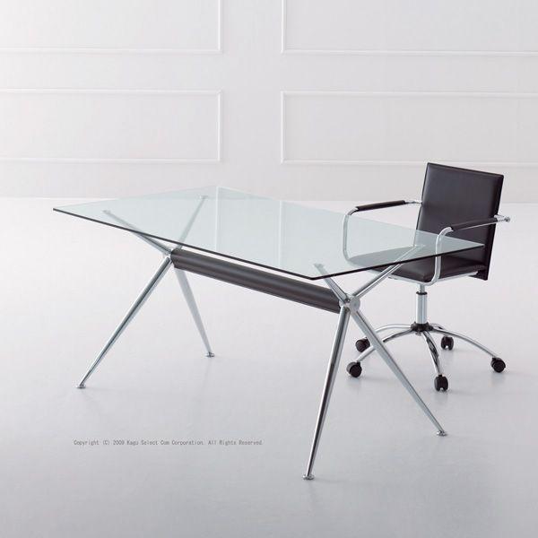 ダイニングテーブルミーティング商談用テーブル 強化ガラステーブルイタリア製W1600cm myt0157gc