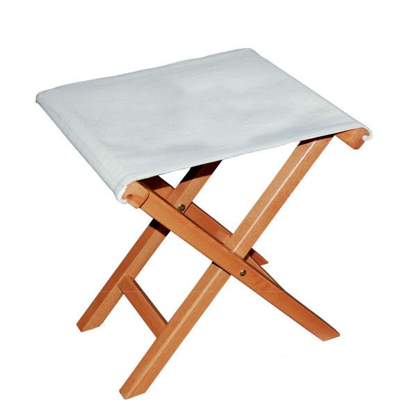 折り畳みスツール・屋外用イタリア製ガーデンチェアー木製チェア (コットン)registar-s