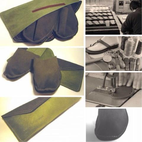 携帯携帯スリッパ洗えるおしゃれスリッパ /ステファン・リーのグッドデザイン国内産・スエード調origami-mos