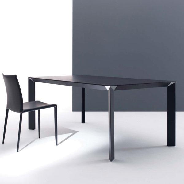 ダイニングテーブル木突き板トップでエレガントで優雅なダークブラウン色のテーブル  mut0041bd