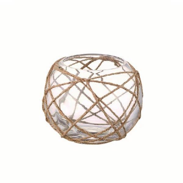トウメイガラス 円形花器おしゃれオブジェ置き物 インテリア雑貨  myk0460
