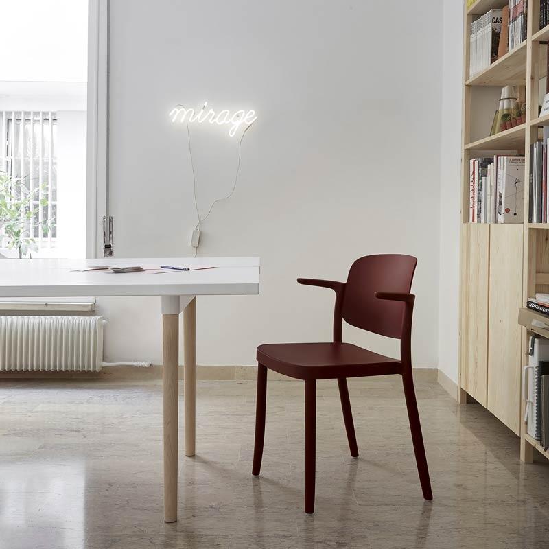 カフェチェア スタッキングガーデンチェアカフェ 椅子 業務用樹脂 屋内外使用可 7色 piazza2