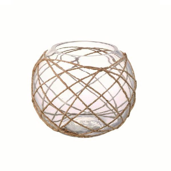 トウメイガラス 円形花器おしゃれオブジェ置き物 インテリア雑貨  myk0461