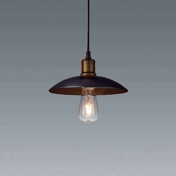 おしゃれ ペンダントライト 北欧 インダストリアル 照明 カフェ モダン 天井照明直径25cmブラック erp7442ba