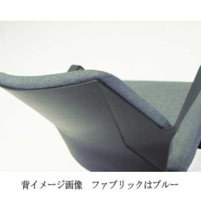 ミーティングチェア 会議椅子 軽快なブルーファブリックワークチェア muc0681bu