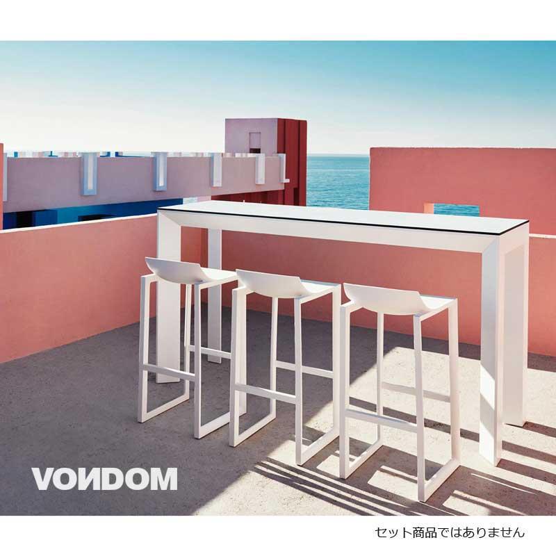 ホワイト カウンターチェア 樹脂 ガーデンハイチェア デザイナーズ  ポリプロピレン 屋内外使用可  muc0725wh