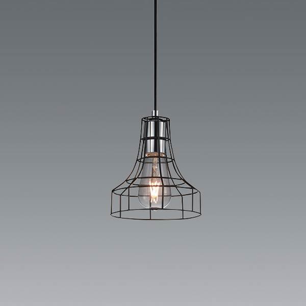 ペンダントランプ 北欧 アイアンスチール 黒 インダストリアル 照明 カフェ 天井照明 ERP7444BA