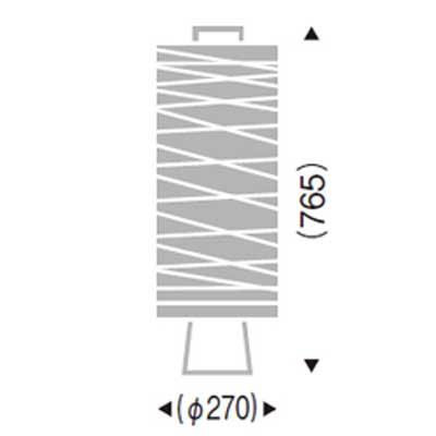 スタンド ライトフロア スタンド和風照明和紙筒型間接照明 LEDランプ ERF2050NB