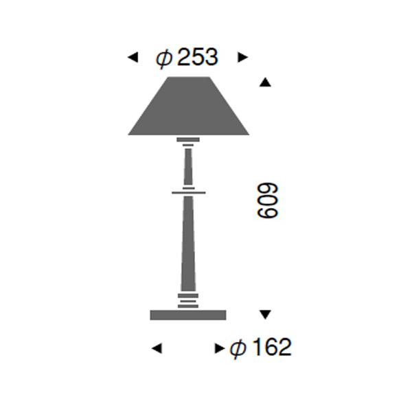 テーブルスタンドヨーロピアン北欧風木 間接照明 LEDランプ別 ERF2034UB