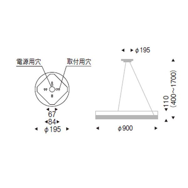 シャンデリア風ペンダントランプ  天井照明 シンプルモダンステンレス直径90cm erc2002s