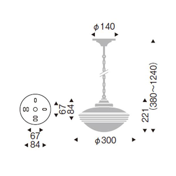 アンティークなアメリカンスタイルデザインペンダントライト天井照明 ERP7143KB