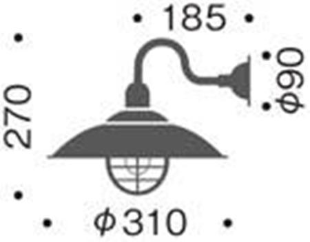 アンティークなアメリカンスタイルモダンレトロペンダントデザインブラケットライト壁面照明日本産MB5645-40-44