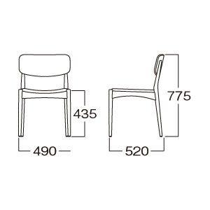 北欧ミッドセンチュリー調ダイニングチェアー高級木製本革椅子チェアmuc0186bl