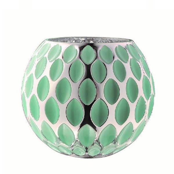 花器硝子つぼ型デザインオーナメントオブジェ置き物インテリア雑貨 グリーン大 myk0473