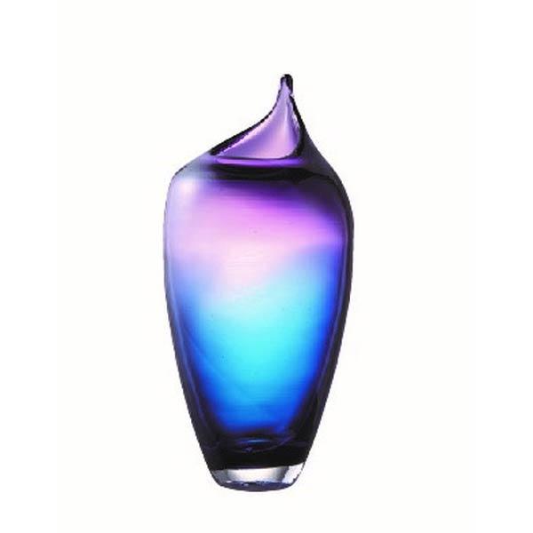 おしゃれオブジェ置き物インテリア雑貨花器ガラスつぼ型デザインオーナメント中 myk0477