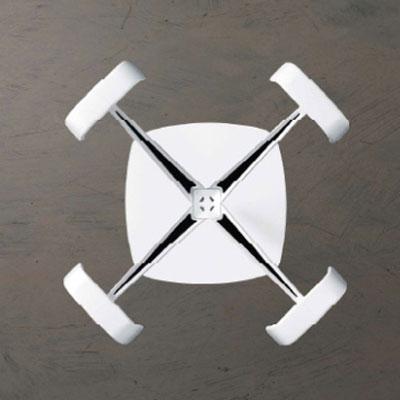 デザインポールコートハンガー コートツリー ハンガー洋服掛けcaimiイタリア製 muk0223wh