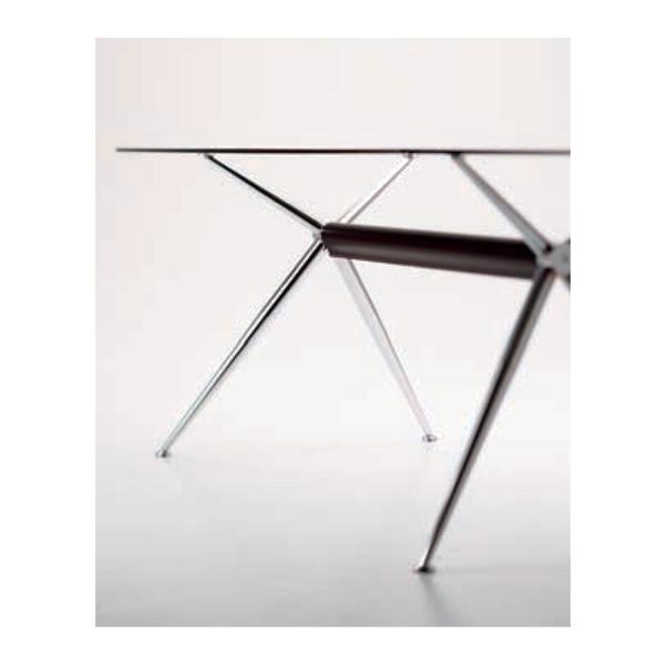 ダイニングテーブルミーティング商談用テーブル 強化ガラステーブルイタリア製W1600/myt0157gc