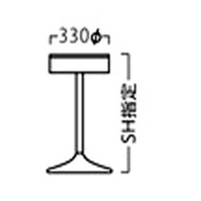 カウンターチェア カウンターチェアー 店舗・業務用回転ハイチェアc-3333