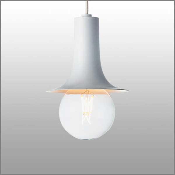 ペンダントライト アルミシェード レトロモダン照明  ショ−トナロー ホワイト(ランプ同梱可能) mp40606-01