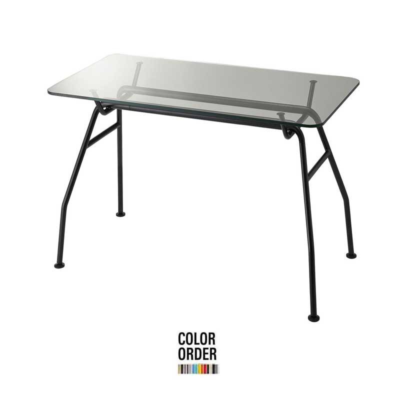 ガラステーブルダイニングテーブルイタリアデザイナーコラボ色が選べるテーブル130×80 tb68-1300