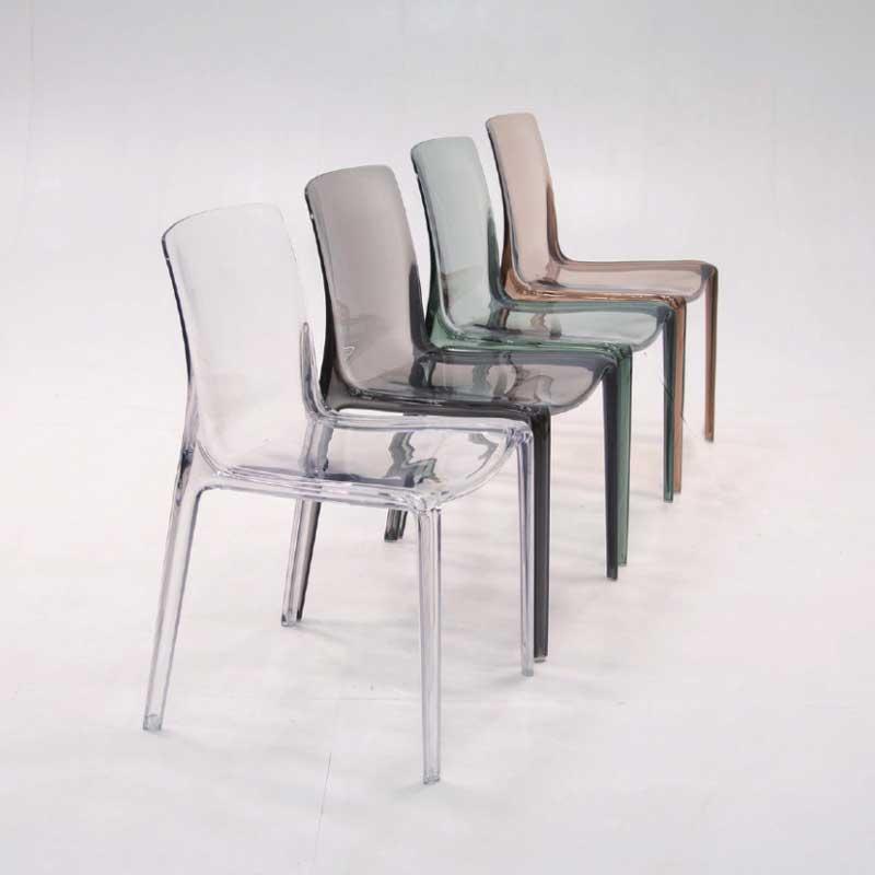 ダイニング透明 椅子 インテリア プラスチッククリアチェアカフェ業務用店舗用家具 myc1480