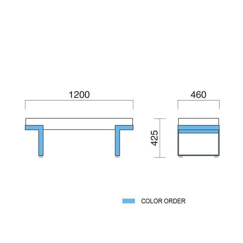ロビーチェア ベンチ エントランスベンチ幅120cm  デザイナーズ業務用店舗用家具 bounty1200